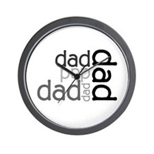 Dad Multi Text Father's Day Wall Clock