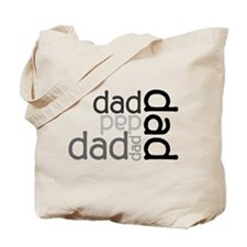 Dad Multi Text Father's Day Tote Bag
