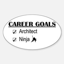 Architect Career Goals Oval Decal