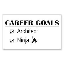 Architect Career Goals Rectangle Decal
