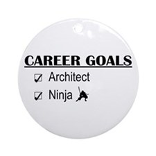 Architect Career Goals Ornament (Round)