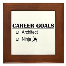Architect Career Goals Framed Tile