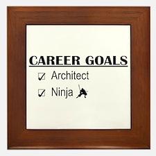 Architect Career Goals Framed Tile