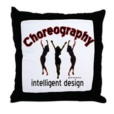 Choreography/Intelligent Desi Throw Pillow
