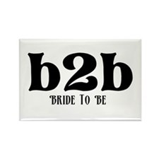 Bride to Be (b2b) Rectangle Magnet