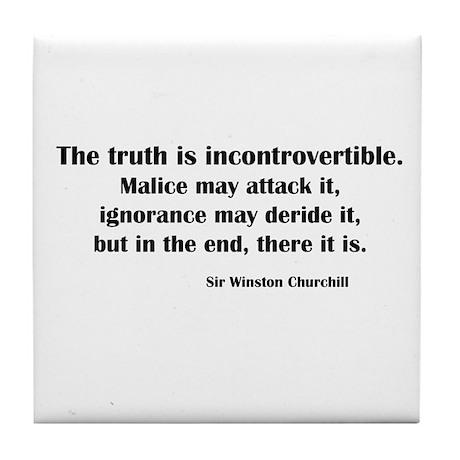 Churchill's Truth Tile Coaster