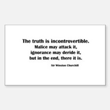 Churchill's Truth Rectangle Decal