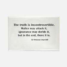 Churchill's Truth Rectangle Magnet
