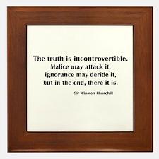 Churchill's Truth Framed Tile