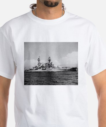 USS Pennsylvania Ship's Image White T-Shirt