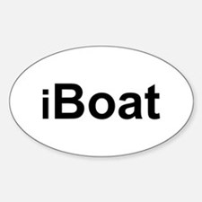 iBoat Oval Decal
