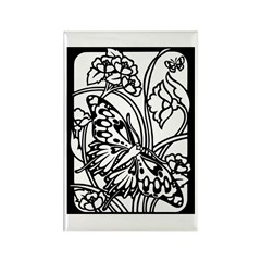 Butterfly 10 Rectangle Magnet (100 pack)