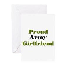 Proud Army Girlfriend Greeting Cards (Pk of 10