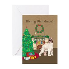 Afghan Hound Merry Christmas Greeting Cards (Pk of