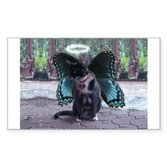 Fairy Kitty-Angel Rectangle Decal