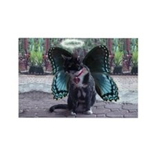 Fairy Kitty-Angel Rectangle Magnet