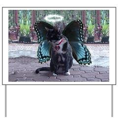 Fairy Kitty-Angel Yard Sign