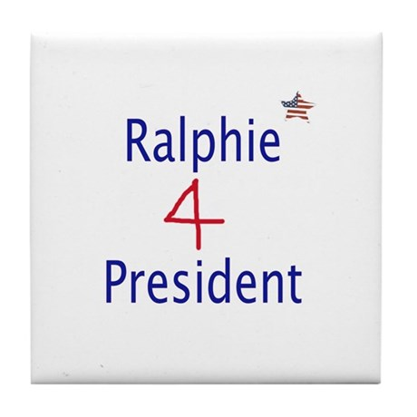 Ralphie for President Tile Coaster