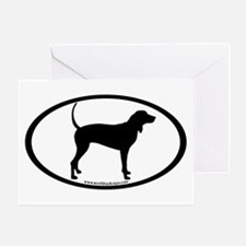 Coonhound Oval Greeting Card