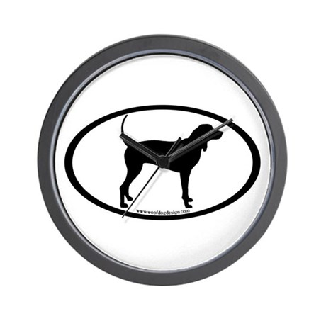 Coonhound Oval Wall Clock