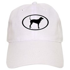 Coonhound Oval Baseball Cap