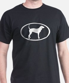 Coonhound Oval T-Shirt