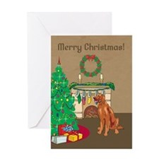 Irish Setter Merry Christmas Greeting Card