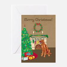 Irish Setter Merry Christmas Greeting Card