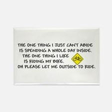 Bicycle Limerick Rectangle Magnet