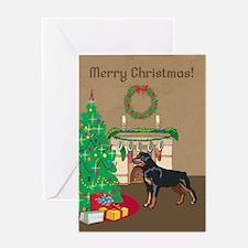Rottweiler Merry Christmas Greeting Card
