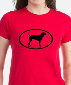 Coonhound Oval Tee