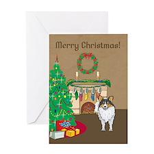 Sheltie Merry Christmas Greeting Card