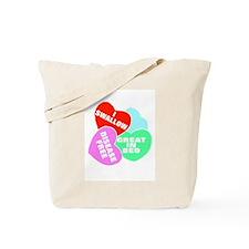 NAUGHTY HEARTS Tote Bag