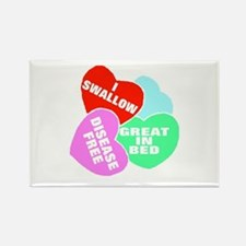 NAUGHTY HEARTS Rectangle Magnet