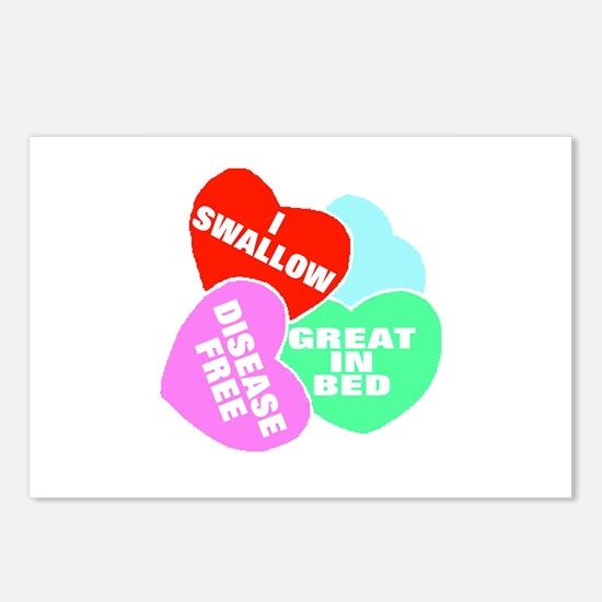 NAUGHTY HEARTS Postcards (Package of 8)