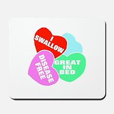 NAUGHTY HEARTS Mousepad
