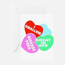 NAUGHTY HEARTS Greeting Card