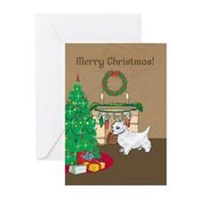 Westie Merry Christmas Greeting Cards (Pk of 20)