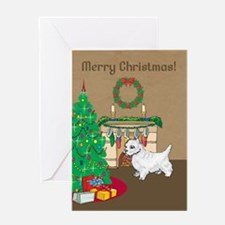 Westie Merry Christmas Greeting Card