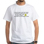 Bicycle Limerick White T-Shirt