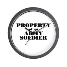 Property of an Army Soldier Wall Clock