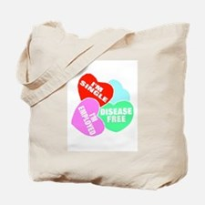 I'M SINGLE CANDY HEARTS Tote Bag