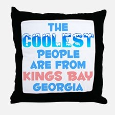 Coolest: Kings Bay, GA Throw Pillow