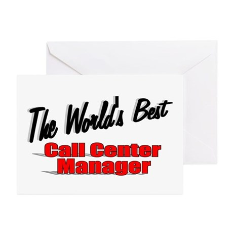 """The World's Best Call Center Manager"" Greeting Ca"