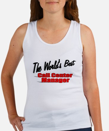 """The World's Best Call Center Manager"" Women's Tan"