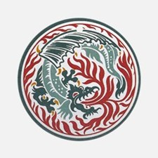 Lucky Chinese Dragon Ornament (Round)