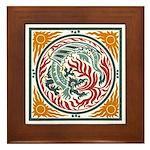 Lucky Chinese Dragon Framed Tile