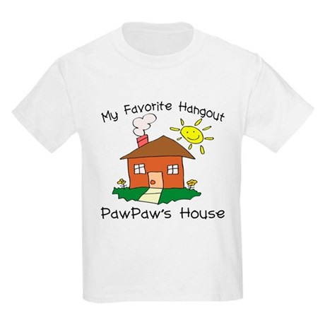Favorite Hangout PawPaw's Hou Kids Light T-Shirt