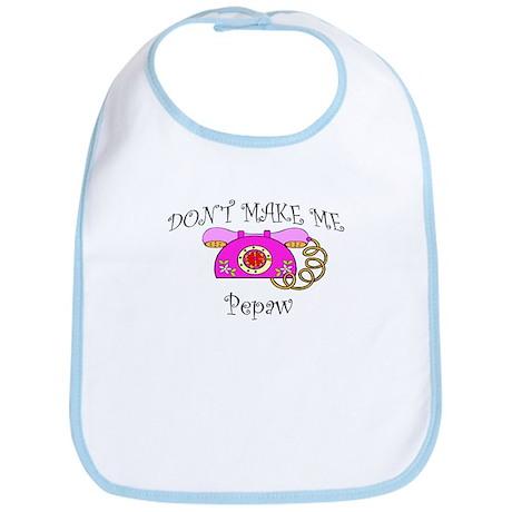 Call Pepaw with Pink Phone Bib