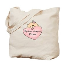 Heart Belongs to Pepaw Tote Bag